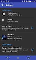 Screenshot of RecForge II - Audio Recorder