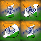 New Indian Flag Letters Wallpaper