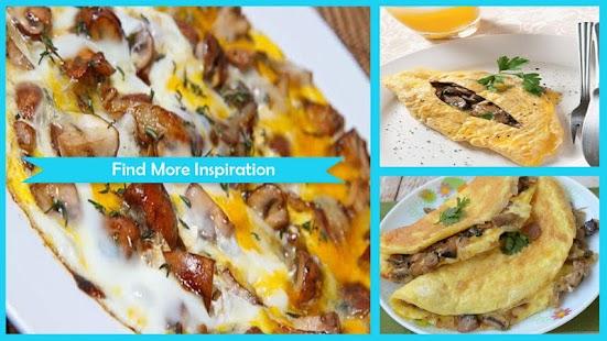 Cheesy Mushroom Ommelette - náhled