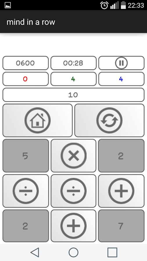 mind calculator training- screenshot