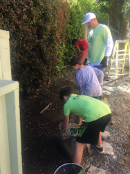 Del Mar - The Winston School gardening and clean up