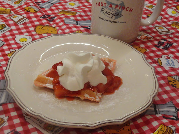 Red Sweetheart Waffles W/strawberry Sauce Recipe