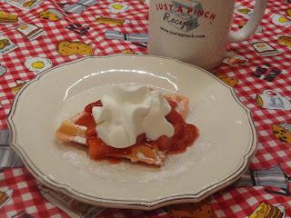 Red Sweetheart Waffles W/strawberry Sauce Recipe