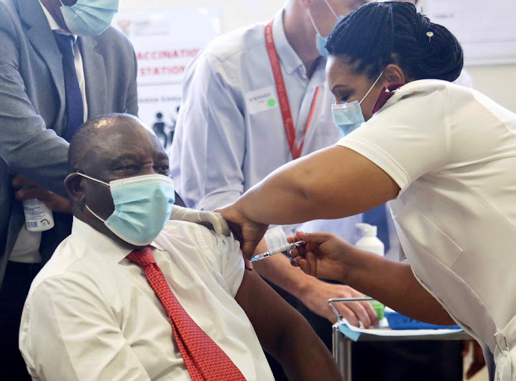 President Cyril Ramaphosa was among the first to be vaccinated in the middle of February. Since then, more than 200,000 health workers have received their jab.