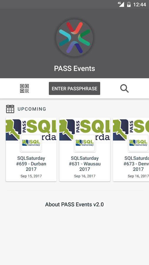 PASS Events- screenshot