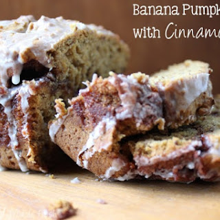 Banana Pumpkin Bread with Cinnamon Swirl Recipe