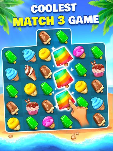 Ice Cream Paradise - Match 3 Puzzle Adventure apktram screenshots 17