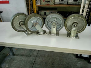 "Photo: Heavy Duty Casters 8"" x 2"""