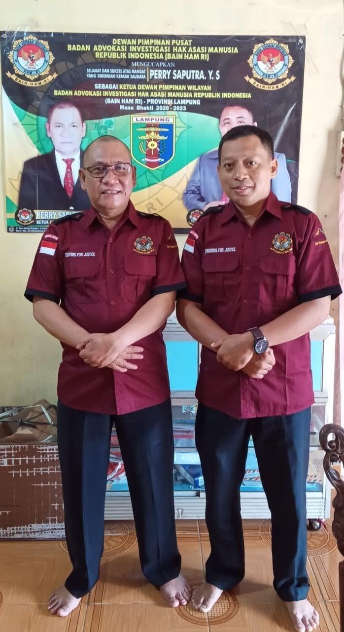 Tanpa Mengantongi Indentitas BAIN HAM-RI DPW Provinsi Lampung FERRY SAPUTRA, YS Berharap Semua Instansi Jangan Dilayani
