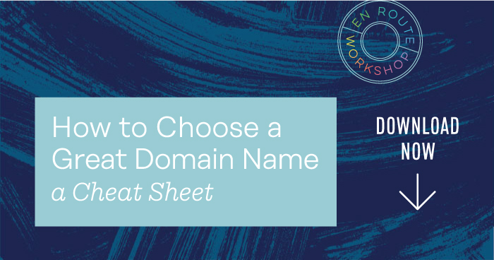 How to Choose a Domain Name Cheat Sheet