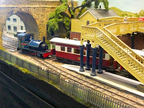 Photo: 021 2-6-2ST loco number 5 River Adur has the all clear to take the passenger train out of Elmgate .