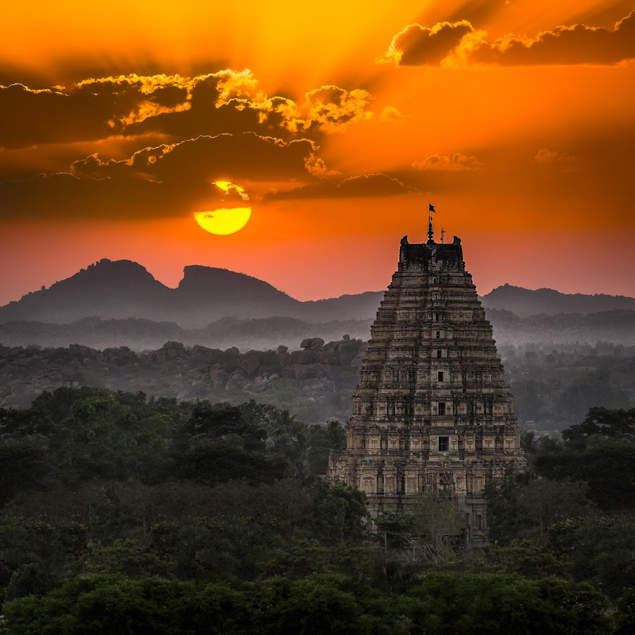 Hampi Sunset 1 by Kevin Standage - Digital Art Places ( canon, temple, sunset, hampi, india, landscape )