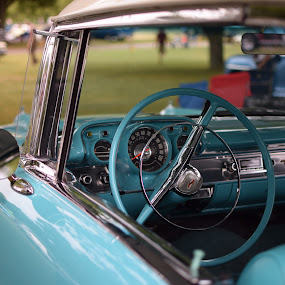Belair by Steve Hayes - Transportation Automobiles ( car, belair, turquoise, automobile, driver, steering wheel, classic )