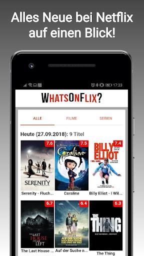 WhatsOnFlix? (Was gibt's Neues bei Netflix?) 0.9.77 screenshots 1