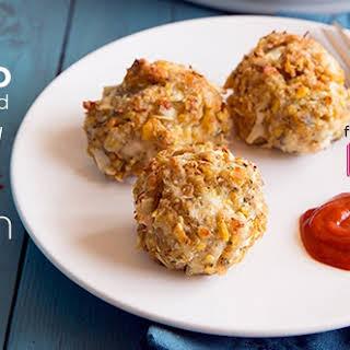 Oven Baked Crispy Chicken Balls.