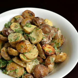 Creamy Lemon-Dill Roasted Potato Salad.
