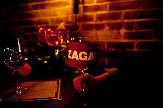Photo: A Zagat koozie, only available at the after- party at Randolph's Beer