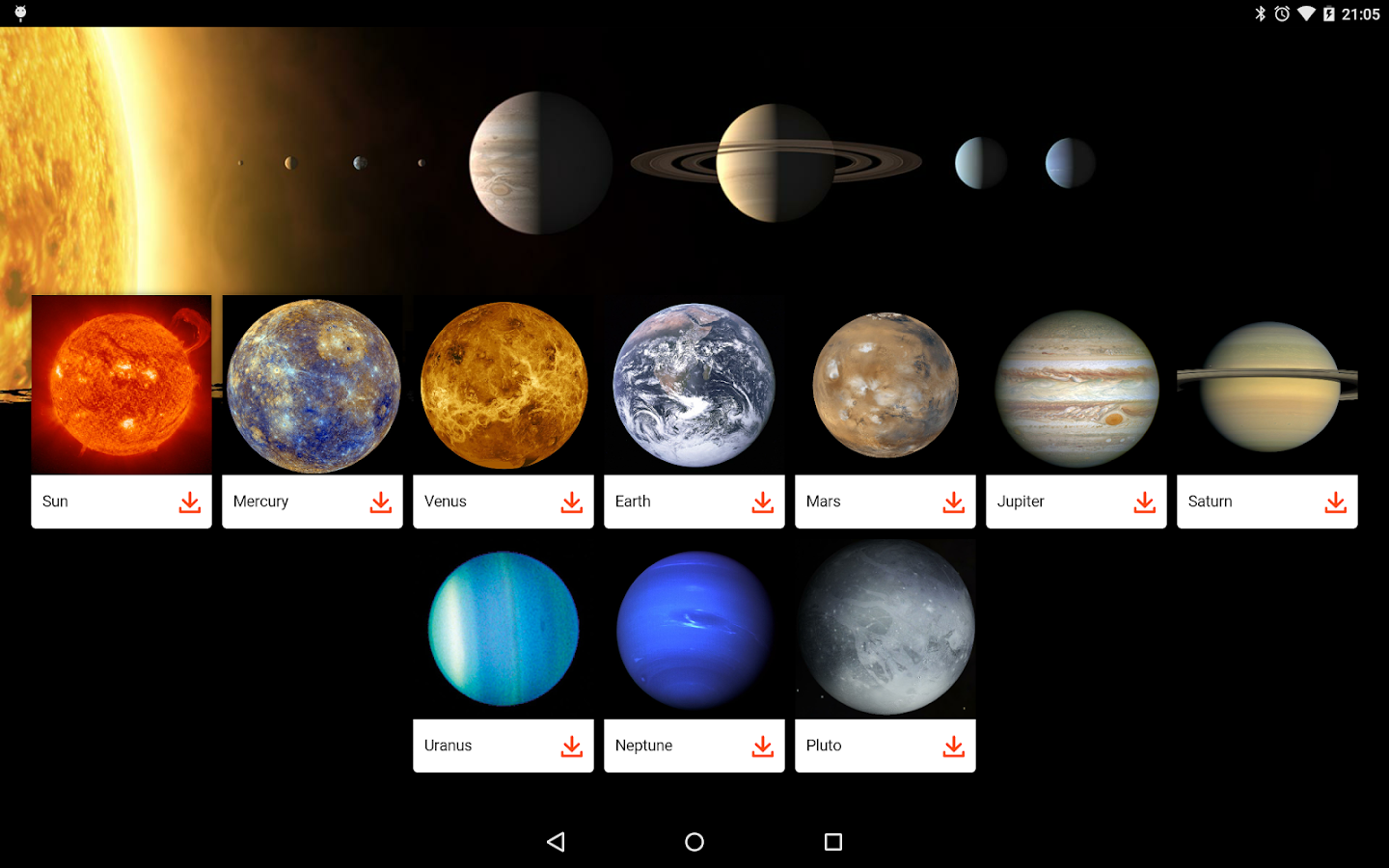 all the planets in solar system names - photo #13