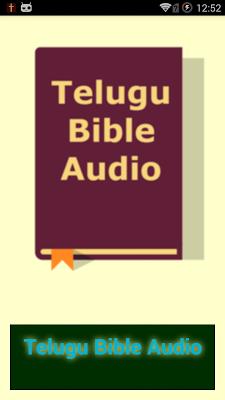 Telugu Bible Audio - screenshot