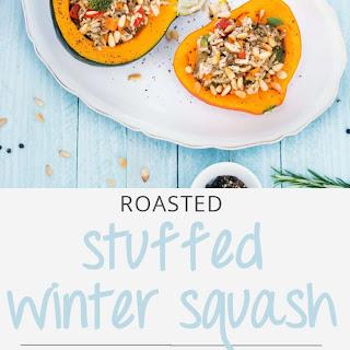 Roasted Stuffed Winter Squash.