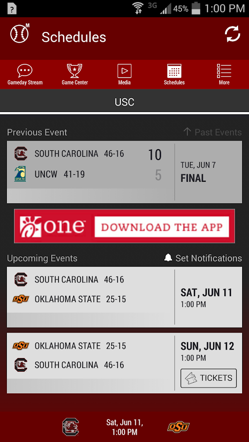 South Carolina Gameday- screenshot