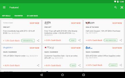 Ebates Cash Back & Coupons Screenshot 15