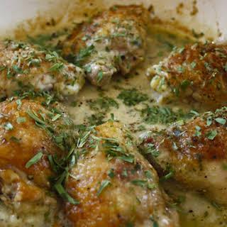 Chicken Thighs with Juniper Berries.