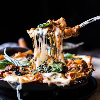 Simple Vegetarian Skillet Lasagna.