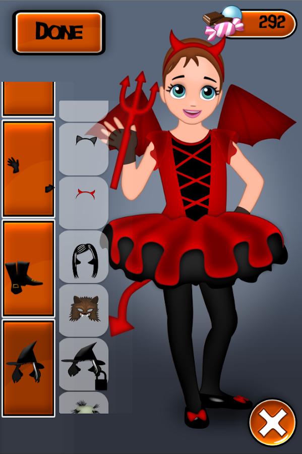 halloween girl monster dressup screenshot - Halloween Girl Dress Up