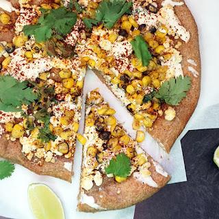 Elote pizza (Mexican street food charred corn pizza)