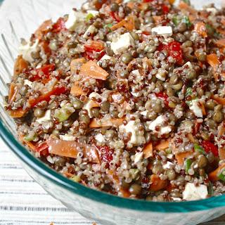 Maple Balsamic Quinoa Lentil Salad Recipe