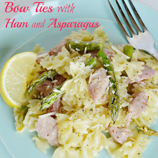 Bow Ties with Ham and Asparagus