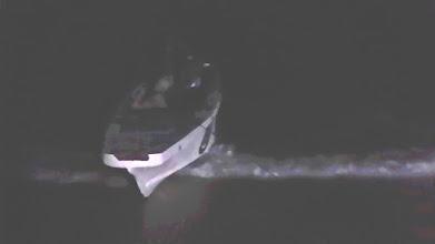 Photo: Næste stop Malapascua, ingen tyfon, men ankom i lille båd i mørke - det syntes Inge ikke om
