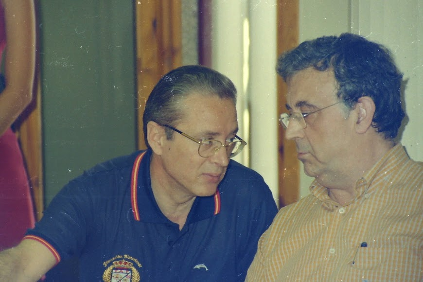 Con Guillermo Blanes.