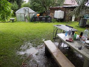 Photo: po lijáku a bouřce máme blátivo