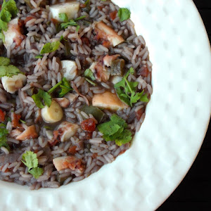 Octopus Rice (With Short fin squid Tentacles)
