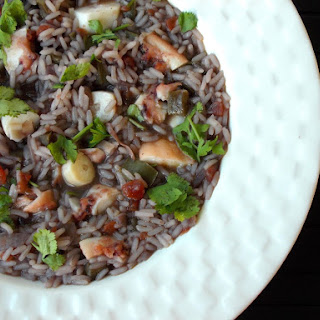 Octopus Rice (With Short fin squid Tentacles).