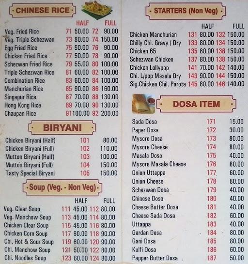 Tasty Parota Corner menu 3