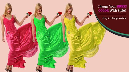 無料摄影Appのファブリックドレスの色チェンジャー|記事Game