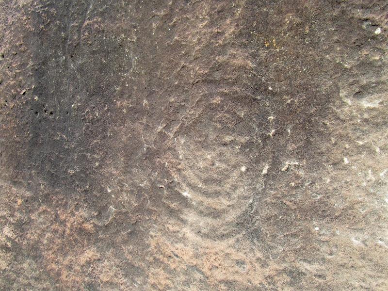 Photo: Spiral petroglyph