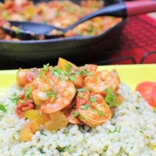 Creole Shrimp with Parsley CousCous
