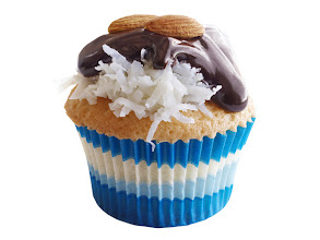Photo: Get the recipe for Coconut Cupcakes with Chocolate and Almonds >> http://ow.ly/hXHSU