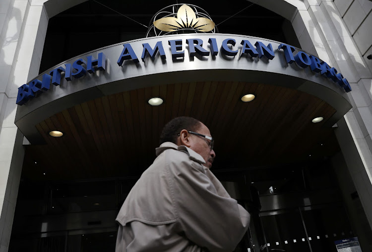 A man walks past the British American Tobacco offices in London, Britain. Picture: REUTERS/STEFAN WERMUTH