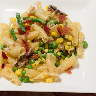 Sweet Corn and Spring Vegetable Pasta.