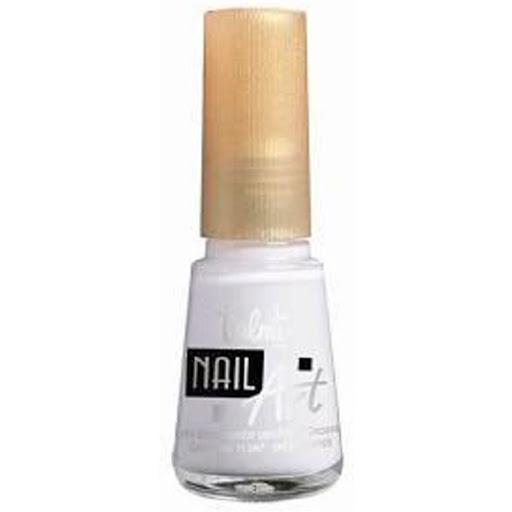 Esmalte Valmy Nail Art Blanco Esmalte endurecedor que otorga alto brillo y dureza de diamente con aplicador de pincel fino.
