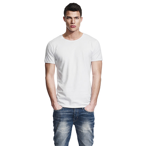 Men's Continental Raw Edge Cotton T-shirt