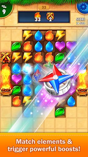 Golden Match 3 Puzzle Game - Real treasure hunter 1.2.5 Mod screenshots 2