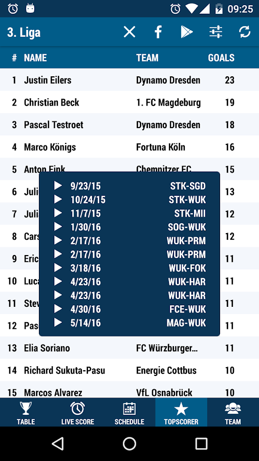 3. Liga- screenshot