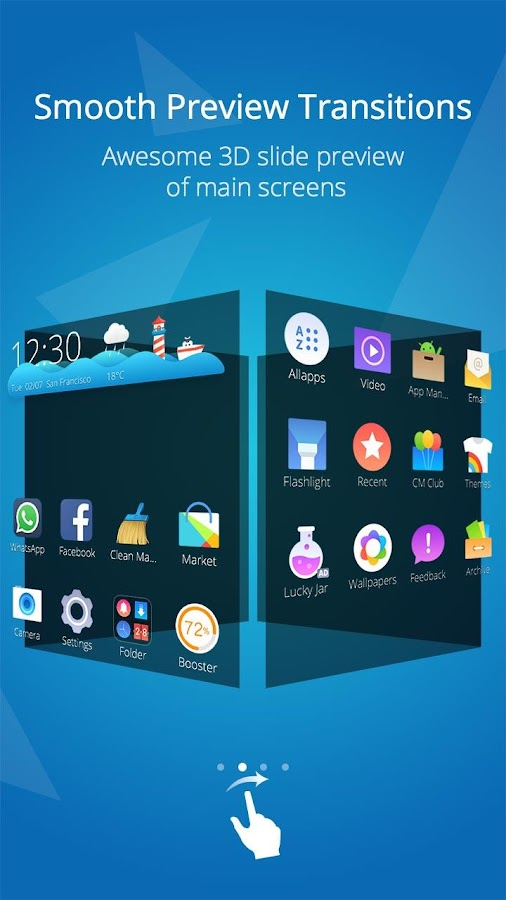 Cm launcher 3d theme boost android apps on google play for Wallpaper home launcher