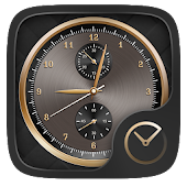 Luxurious Gold GO Clock Theme